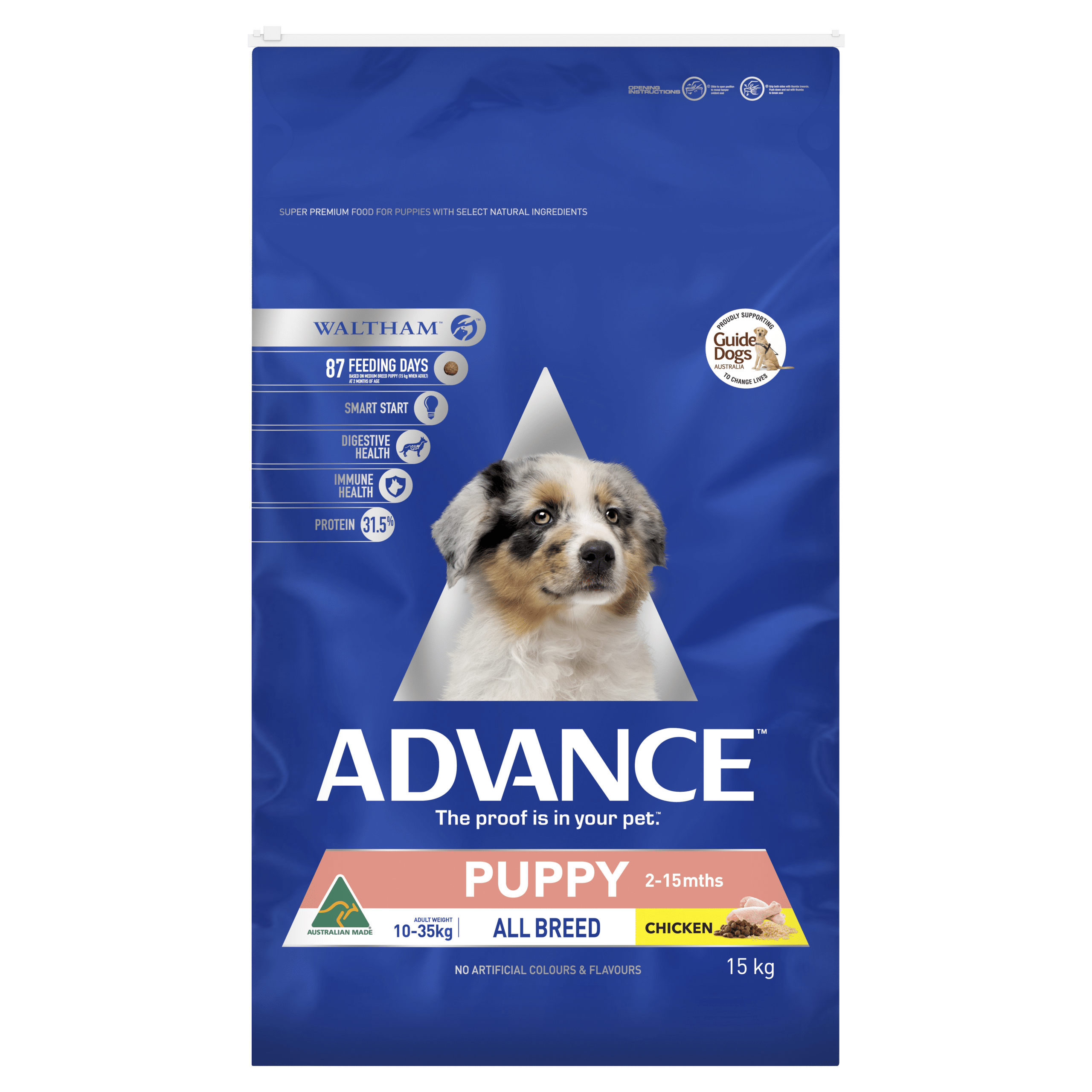 Advance Puppy Plus Growth All Breed Chicken 15kg