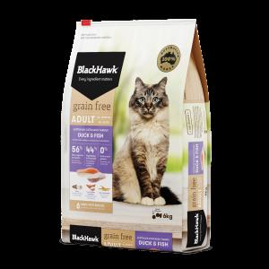 Black Hawk Cat Grain Free Duck/Fish 6kg