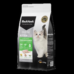 Black Hawk Kitten Chicken & Rice 1.5kg