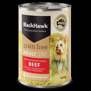 Black Hawk Grain Free Beef 400gm